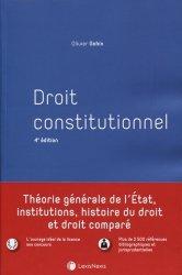 Droit constitutionnel. 4e édition