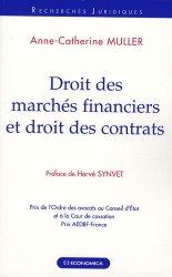 Droit des marchés financiers et droit des contrats