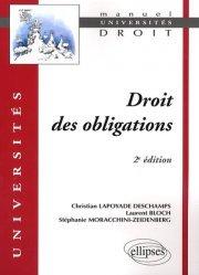 Droit des obligations. 2e édition