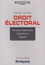 La couverture et les autres extraits de Droit électoral. 2e édition