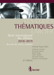 Droit international des affaires. Recueil de textes annotés - Pack en 2 volumes dont un complément pour la région flamande, Edition 2018-2019