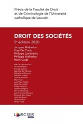 La couverture et les autres extraits de Droit commercial. Sociétés commerciales, Edition 2019-2020