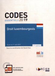 Droit luxembourgeois. Edition 2019