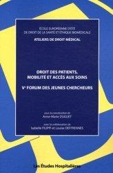 Droits des patients, mobilité et accès aux soins