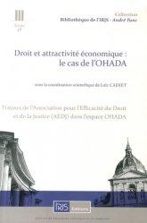 Droit et attractivité économique : le cas de l'OHADA