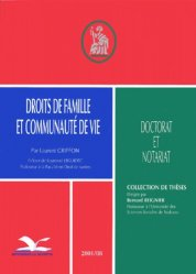Droits de famille et communauté de vie
