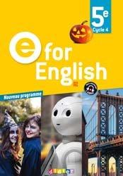 E for English 5e (éd. 2017) : Livre