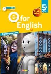 E for English 5e (éd. 2017) : Coffret Classe 2 CD Audio + 1 DVD