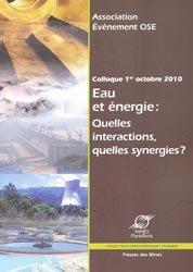 Eau et Energie : quelles interactions, quelles synergies