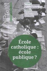 Ecole catholique : école publique