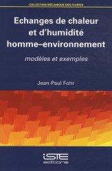 Echanges de chaleur et d'humidité homme-environnement
