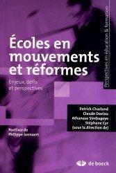 Ecoles en mouvements et réformes