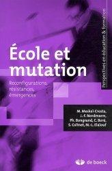 Ecole et mutation
