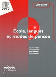 Ecole, langues et modes de pensee