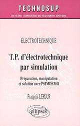 Électrotechnique TP d'électrotechnique par simulation