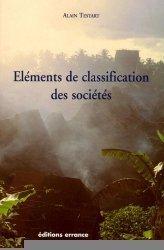 Eléments de classification des sociétés