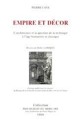 EMPIRE ET DECOR. L'architecture et la question de la technique à l'âge humaniste et classique