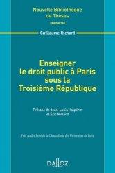Enseigner le droit public à Paris sous la Troisième République