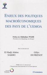 Enjeux des politiques macroéconomiques des pays de l'UEMOA