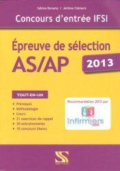 Épreuve de sélection AS/AP 2013