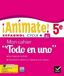 Espagnol 5e Cycle 4 Animate! - Mon Cahier