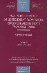 Essai sur le concept de licenciement économique. Etude comparée des droits français et italien
