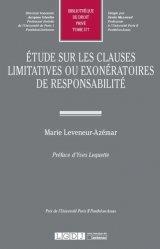 Etude sur les clauses limitatives ou exonératoires de responsabilité