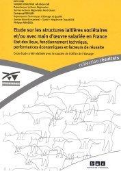 Etudes sur les structures laitières sociétaires et/ou avec main-d'oeuvre salariée en France