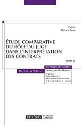 Etude comparative du rôle du juge dans l'interprétation des contrats