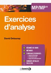 Exercices d'analyse MP/MP*