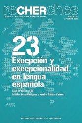 Excepcion y excepcionalidad en lengua española