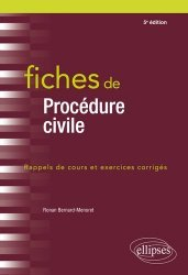 Fiches de procédures civiles. Rappels de cours et exercices corrigés, 5e édition