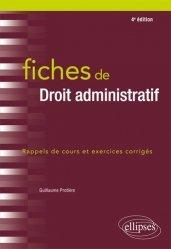 Fiches de droit administratif. 4e édition