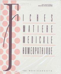 Fiches matière médicale homéopathique