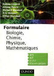 Formulaire  Biologie, Chimie, Physique, Mathématiques