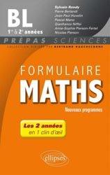 La couverture et les autres extraits de Formulaire maths ECE 1e et 2e année