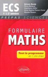 La couverture et les autres extraits de Formulaire Maths ECE 1er& 2e années