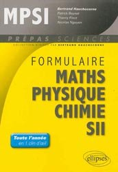 Formulaire MPSI  Maths - Physique - Chimie - SII