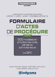 Formulaire d'actes de procédure. 200 modèles en procédures civile, pénale et administrative ; la QPC, 4e édition revue et augmentée