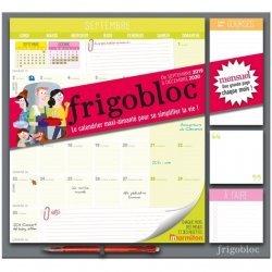 Frigobloc mensuel. Le calendrier maxi-aimanté pour se simplifier la vie ! Avec un criterium, Edition 2019-2020