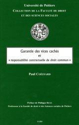 Garantie des vices cachés et 'responsabilité contractuelle de droit commun'
