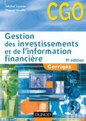 Gestion des investissements et de l'information financière