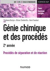 Génie chimique et des procédés - 2e année