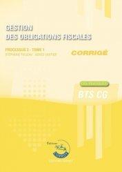 Gestion des obligations fiscales Processus 3 du BTS CG Tome 1