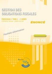 Gestion des obligations fiscales Processus 3 du BTS CG Tome 2