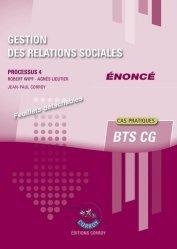 Gestion des relations sociales Processus 4 du BTS CG Enoncé