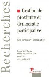 Gestion de proximité et démocratie participative. Une perspective comparative