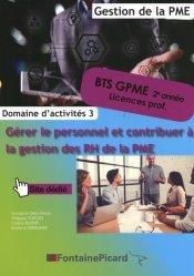 Gérer le personnel et contribuer à la gestion des RH de la PME BTS GPME 2e année/Licences pro
