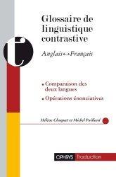 Glossaire de linguistique contrastive anglais-français