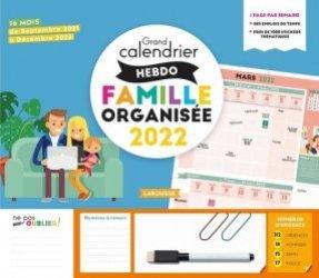 Grand calendrier hebdomadaire de la famille organisée